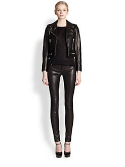 Saint Laurent - Leather Biker Jacket