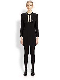 Saint Laurent - Sequined Front Cutout Dress
