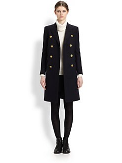 Saint Laurent - Double-Breasted Wool Coat
