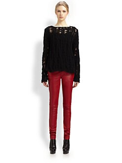 Saint Laurent - Open-Weave Wool Sweater