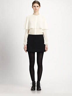 Saint Laurent - Silk Capelet Blouse