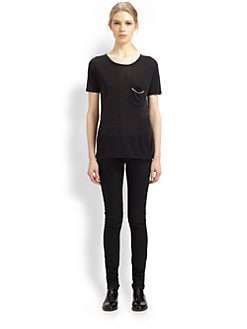 Saint Laurent - Silk Chain Detail Tee