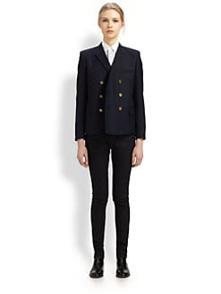 Saint Laurent - Double-Breasted Wool Blazer