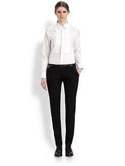 Saint Laurent - Bib Button-Front Shirt