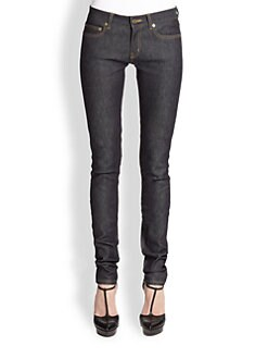 Saint Laurent - Raw Denim Skinny Jeans