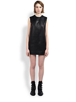 Saint Laurent - Leather Mondrian Dress