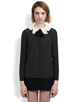 Saint Laurent - Silk Polka Dot Blouse