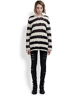 Saint Laurent - Oversized Striped Sweater