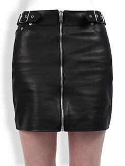 Saint Laurent - Leather Mini Skirt