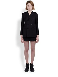 Saint Laurent - Pinstriped Double-Breasted Blazer