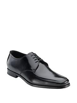 Prada - Apron Front Leather Oxfords