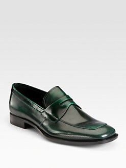 Prada - Spazzolato Penny Loafers
