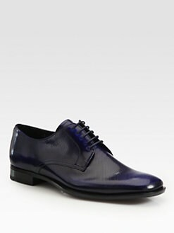 Prada - Plain Perforated Spazzolato Lace-Up