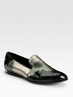 Prada - Pailette Camo Slipper