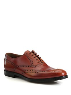 Prada - Leather Lace-Up
