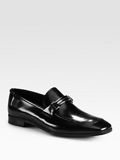 Prada - Spazzolato Dress Slip-Ons