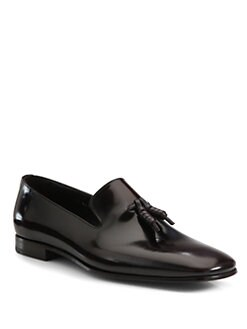 Prada - Leather Slip-On Loafer