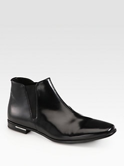 Prada - Chelsea Leather Boots