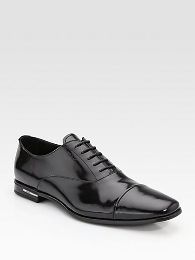 Cap-Toe Lace-Up Shoe