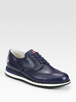 Prada - Wingtip Platform Sneakers