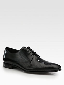 Prada - Perforated Leather Lace-Ups