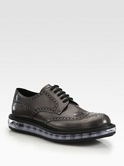 Prada - Spazzolato Wingtip Lace-Ups