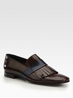 Prada - Bi-Colored Spazzolato Kiltie Loafers