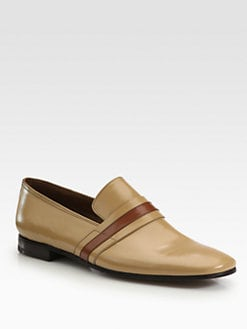 Prada - Bi-Colored Banded Loafers