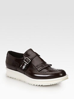 Prada - Spazzolato Leather Wingtips