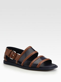 Prada - Runway Bi-Colored Spazzolato Sandals