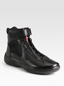 Prada - America's Cup High Top Sneakers