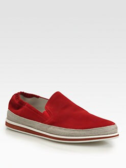 Prada - Suede Slip-Ons