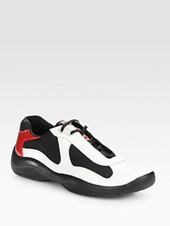 Prada - Lace-Up Sport Sneakers
