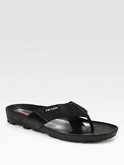 Prada - Leather Thong Sandal