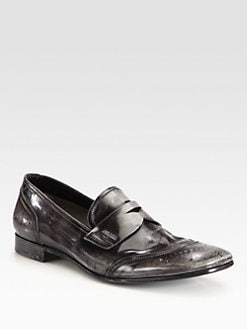 Prada - Spazz Wingtip Penny Loafers