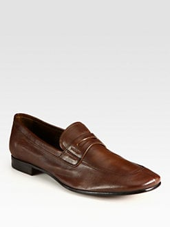 Prada - Antique Leather Penny Loafers