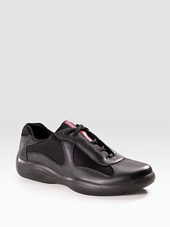 Prada - Leather Sneakers
