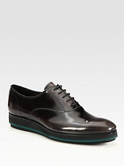 Prada - Spazzolato Lace-Up Oxfords
