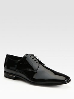 Prada - Vernice Patent Leather Lace-Ups