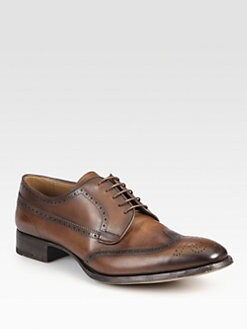 Prada - Leather Oxford Lace-Ups