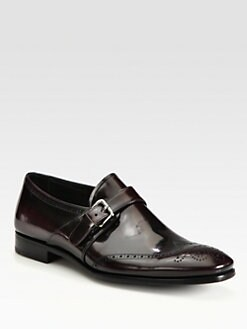 Prada - Spazzolato Monkstrap Slip-Ons