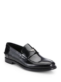 Prada - Spazzolato Slip-On Loafers