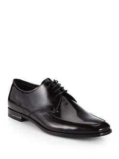 Prada - Spazzolato Leather Lace-Ups