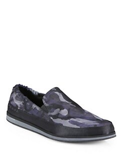 Prada - Nylon Camouflage Slip-Ons
