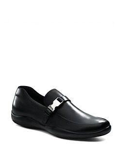 Prada - Buckle-Trimmed Loafers