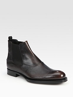 Prada - Pebbled Spazzolato Chelsea Boot