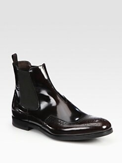 Prada - Spazzolato Wing-Tip Chelsea Boot