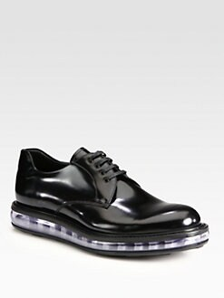 Prada - Leather Lace-Up Derby