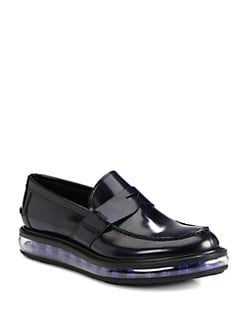 Prada - Spazzolato Penny Loafer