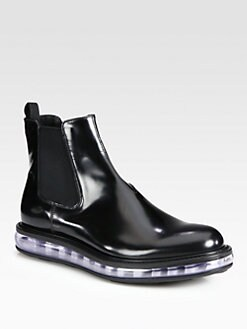 Prada - Spazzolato Leather Chelsea Boot